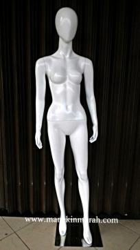 patung full body wanita dewasa material fuber glass tinggi 1,7m warna putih gloss