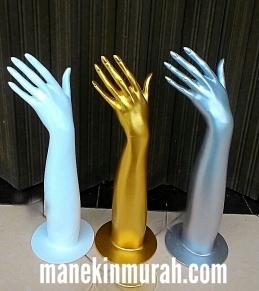 patung tangan wanita material fiber glass