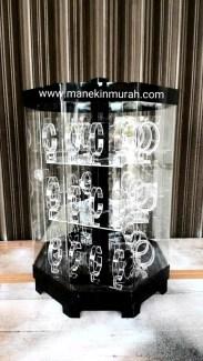 KODE 2 -- display jam tangan bentuk tabung material acrylic