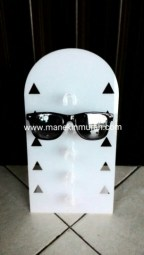 display kacamata meja material acrylic