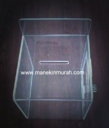 kotak saran atau kotak amal material acrylic