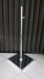 Tiang patung plat kotak Material besi chrome Tinggi 1,2 m Diameter plat