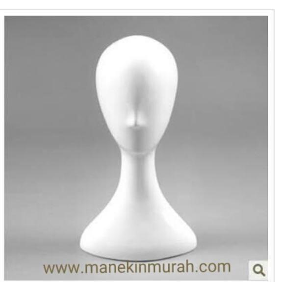 Material fiberglass warna putih gloss ( bisa costum warna ) Rp 150.000/ pcs Untuk display kerudung dan topi