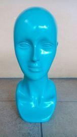 KODE 02 patung kepala wanita material fiber glass