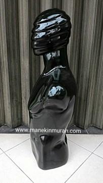patung setengah badan pria material fiber glass wajah mumi