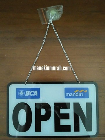 OPEN CLOSED SIGN LOGO BANK RP 35.000